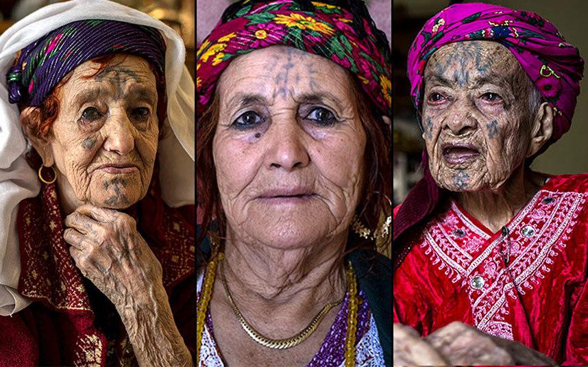 Удивительные татуировки алжирских женщин