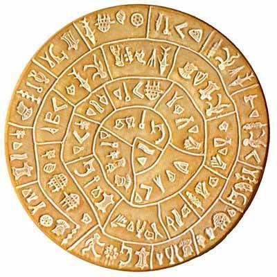 7. Фестский диск Причудливая надпись на этой глиняной табличке не расшифрована до сих пор. Ученые да