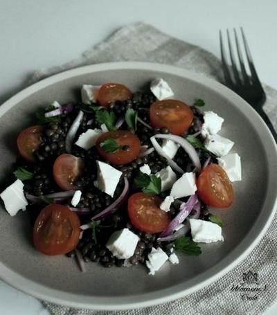 Салат с чичевицей