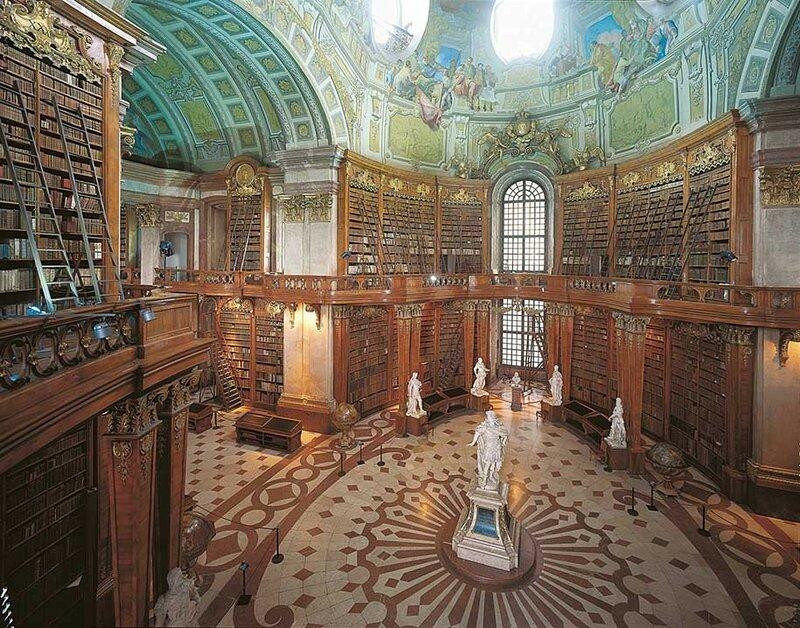 Австрийская национальная библиотека, Вена, Австрия.