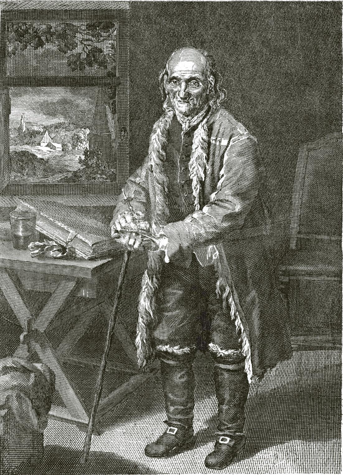 64. Портрет Леонтия Бухвостова в старости