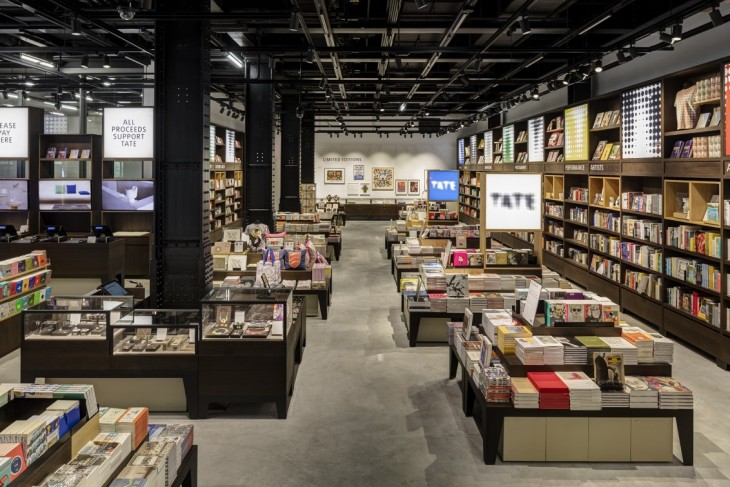 Tate Modern's new shop is housed at the base of the gallery's distinctive pyramid extension designed