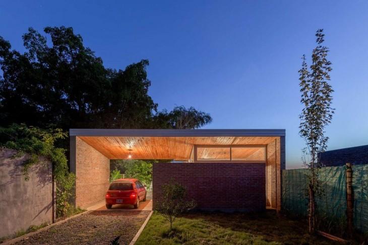 Celula.Urbana designed this impressive contemporary brick house located in Santo Tome, Argentina, in