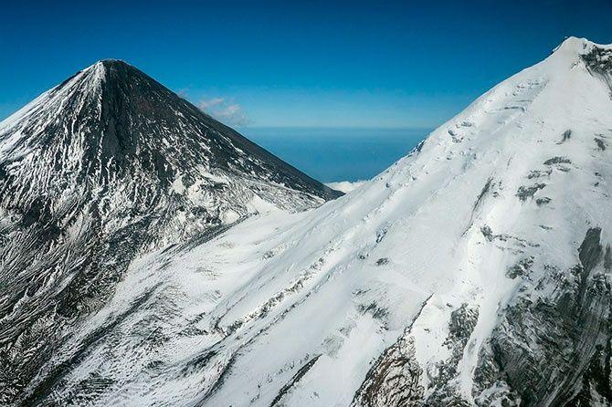 Фото   вулканы Камчатки: путешествие на вертолете и подсчет действующих вулканов