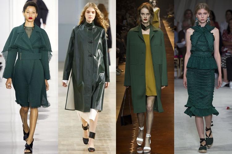 модные цвета весна лето 2016 - темно-зеленый