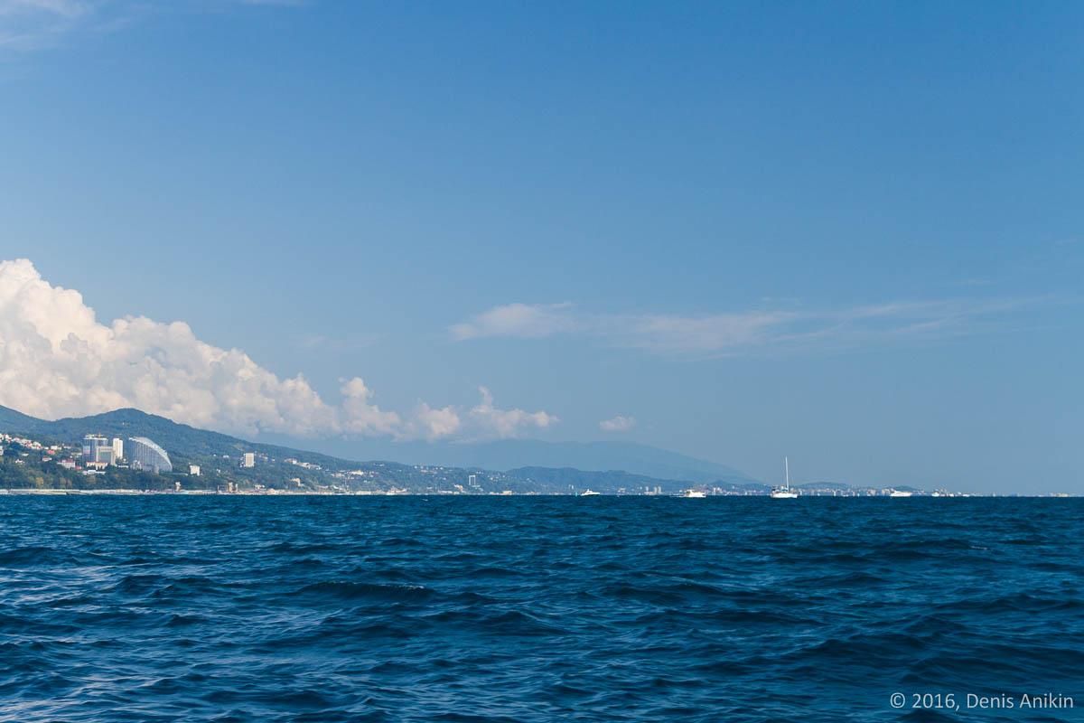 Вид на Сочи с моря 3