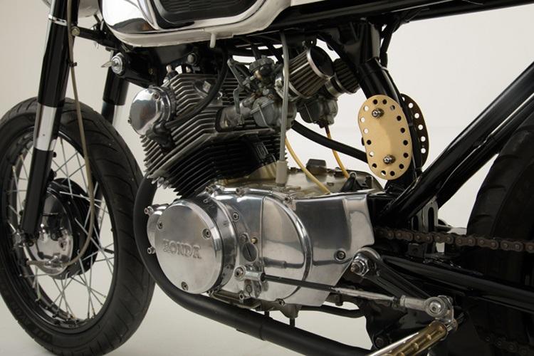 JMS Customs: кафе рейсер Honda CB160 Luna 1964