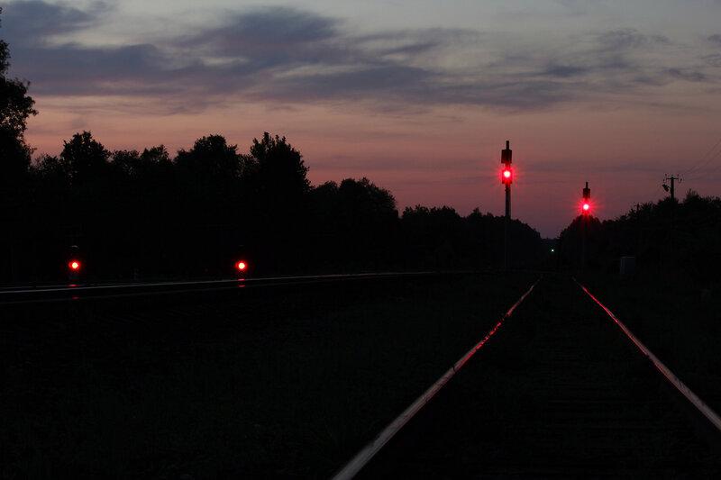 Чётные выходные светофоры станции Осуга в сторону Ржева