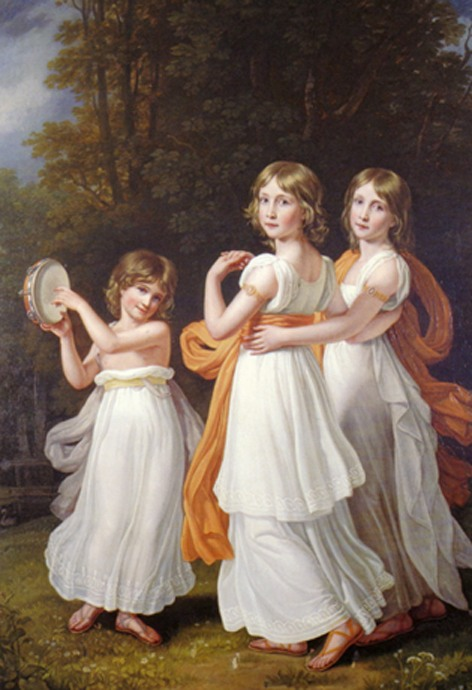 Йозеф Карл Штилер. Портрет дочерей Максимилиана I: Людовики, Марии и Софии