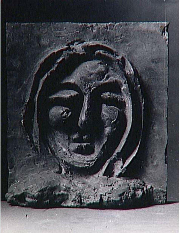 1936. Женское лицо, фото в мастерской Пикассо в Буажелу