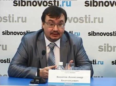 Руководитель красноярского общественного объединения «Плотина.Нет!» Александр Колотов в пресс-центре «Сибновости» в Красноярске