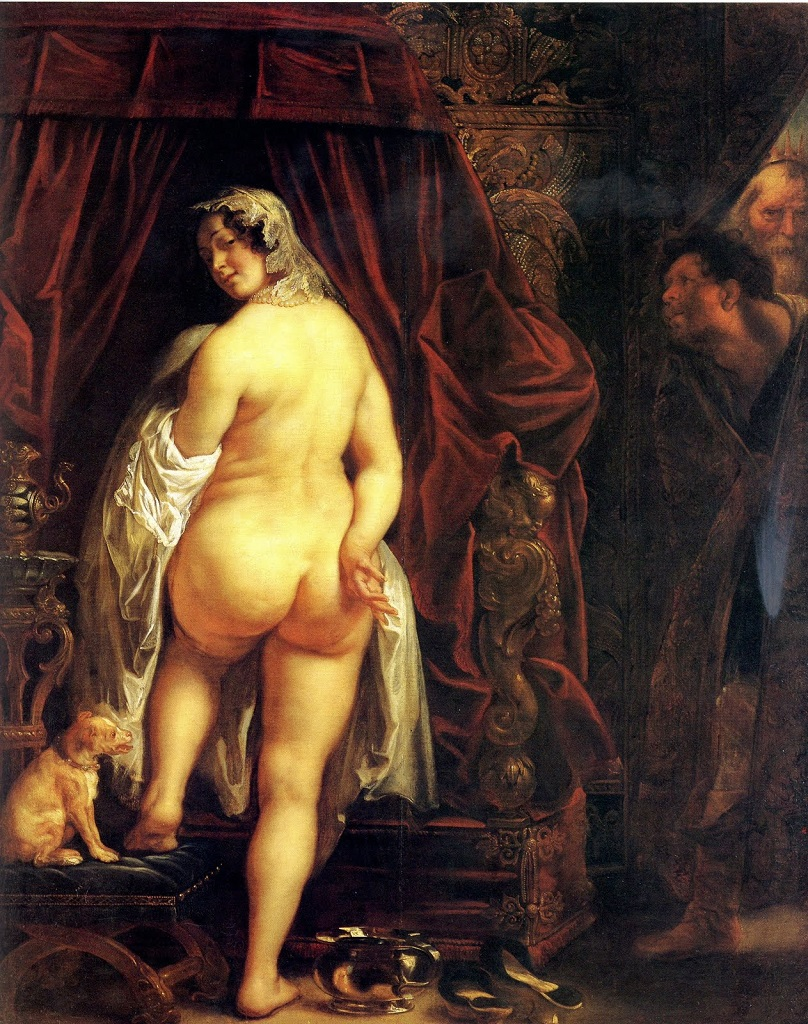 Якоб Йорданс. King Candaules of Lydia Showing his Wife to Gyges, Jacob Jordaens (1593-1678)