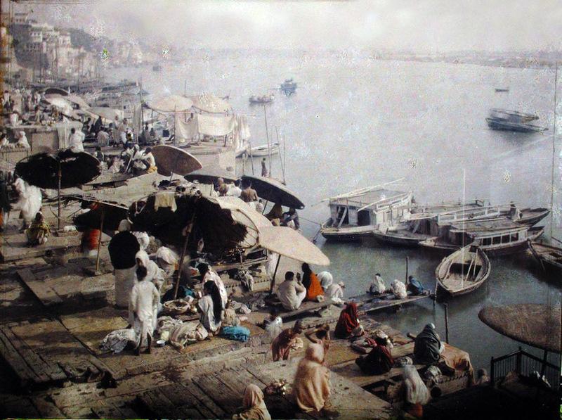 1914 город Бенарес Варанаси самое священное место для индуистов святой город для буддистов.jpg
