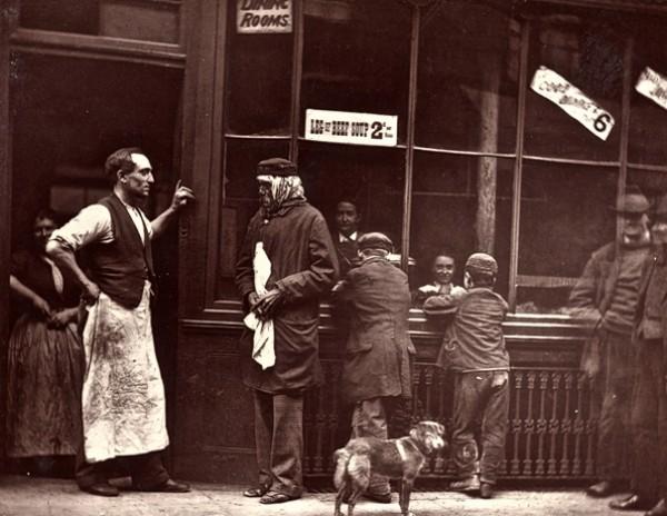 Уличная жизнь Лондона в 1876-м году