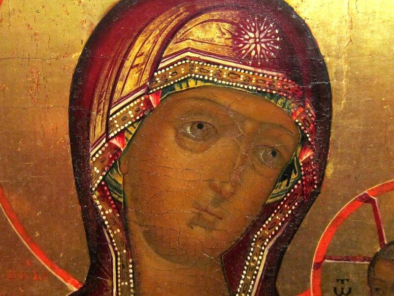 Седмиезерная икона Божией Матери. 1790 год. Фрагмент.