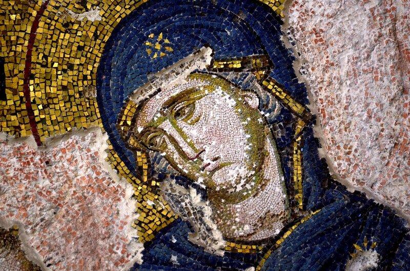 Богоматерь Хора ту Ахориту. Мозаика монастыря Хора в Константинополе. 1315 - 1321 годы. Фрагмент.