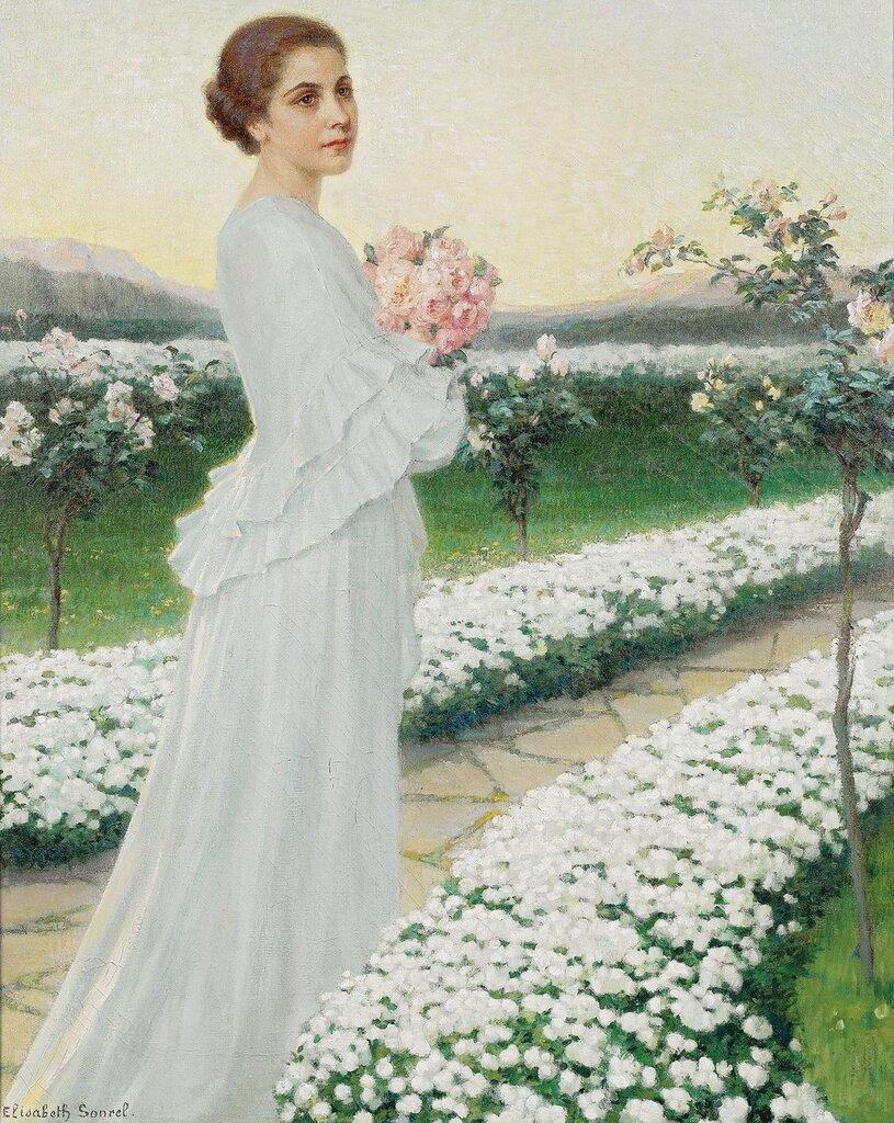 Elisabeth Sonrel, 1874-1953. Майский вечер. 92 х 73 см.jpg