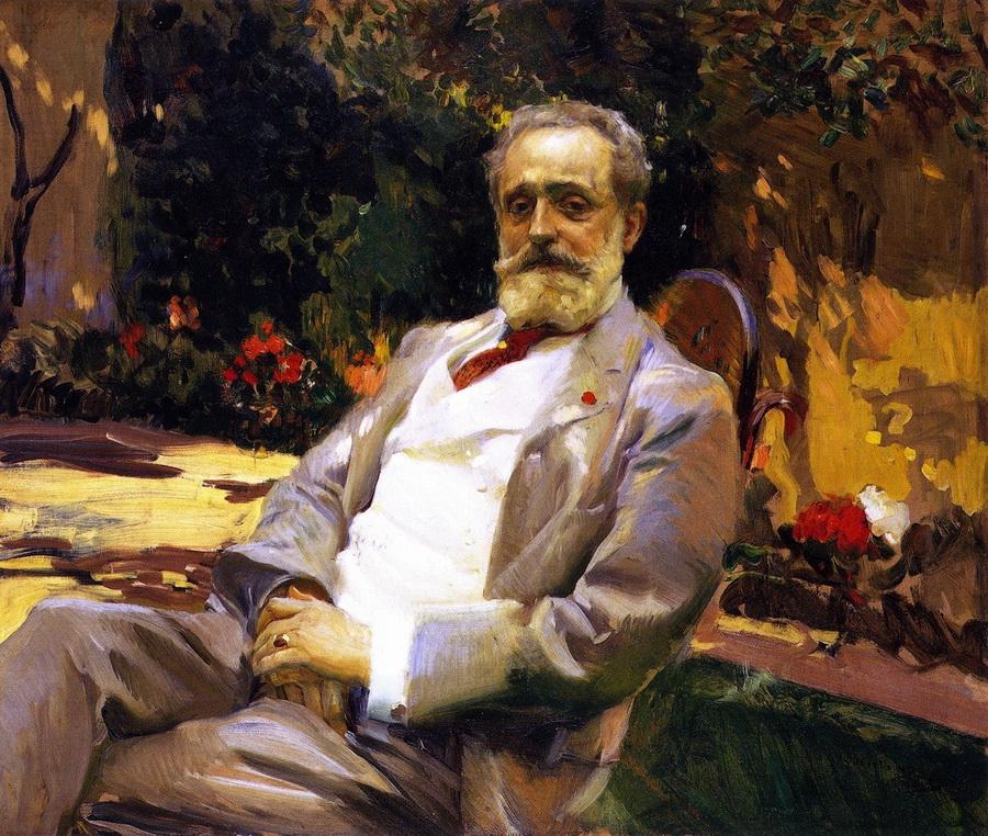 Joaquín Sorolla y Bastida, 1863-1923. Портрет художника Раймундо де Мадрасо-и-Гаррета. 1906. Нью-Йорк, Испанское общество в Америке