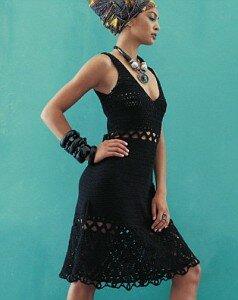 Черное платье от Phildar Наши воплощения