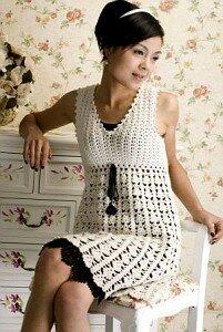Березка - платье-сарафан крючком Наши воплощения