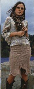 Юбка крючком из журнала мод № 491 Наши воплощения