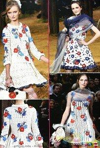 Жакетик с маками и васильками Chanel SS 2010