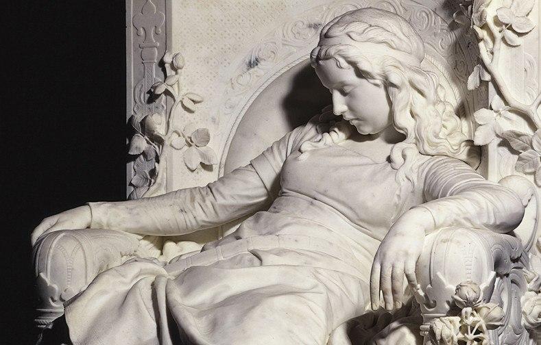 Немецкий скульптор Людвиг Зюссман-Хелльборн (Louis Sußmann-Hellborn). Спящая красавица