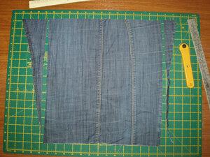 Юбка из джинсов.