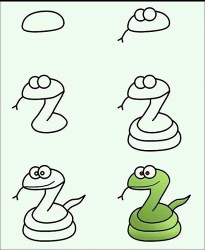 рисуем змея