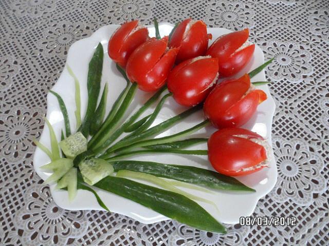 Как сделать украшения к столу из овощей
