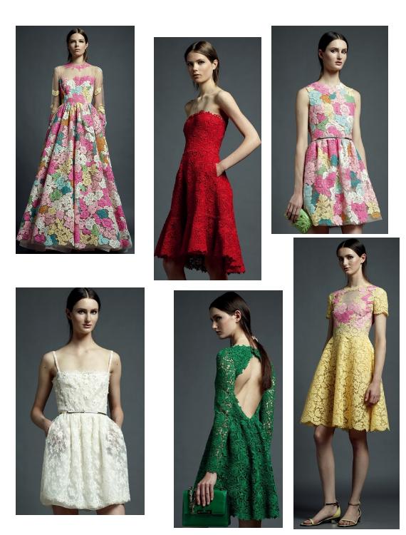 Модные кружевные платья 2013