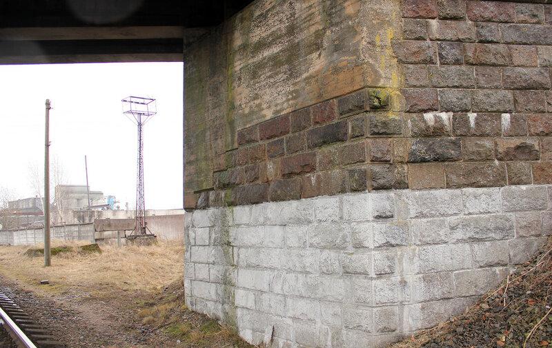 Опора моста ветки на Лиду на станции Молодечно