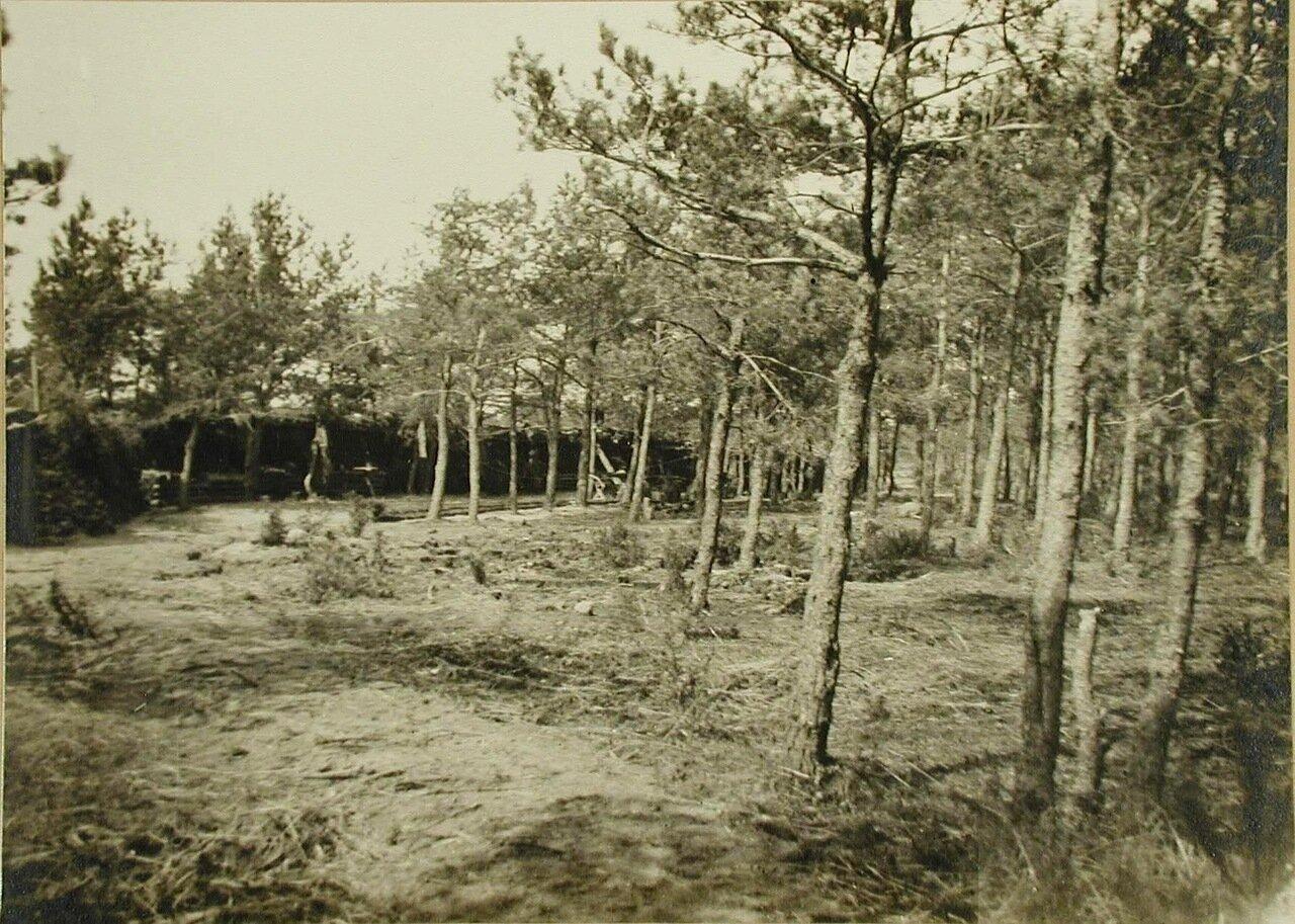 03. Вид части защитных сооружений для I-го эскадрона гусарского полка. Апрель 1915