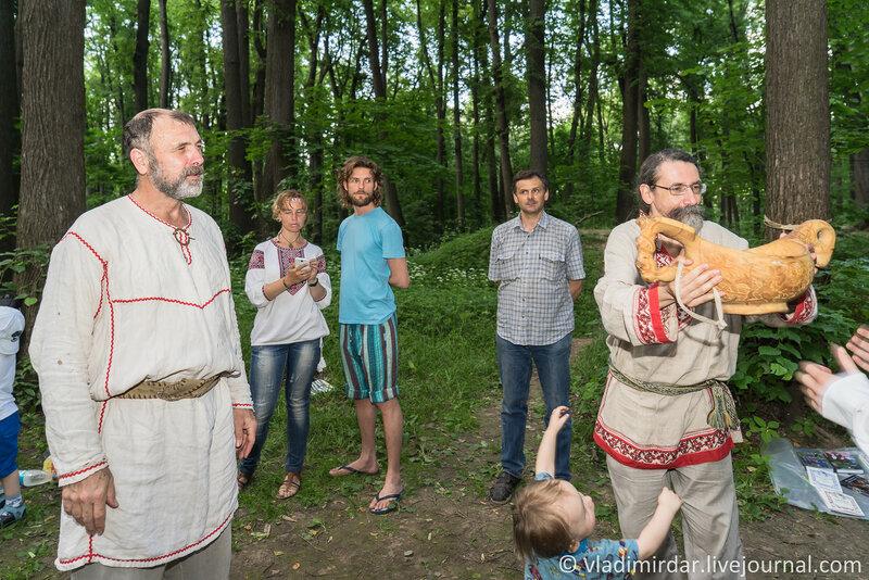 Вознесение славы богам. Царицынское языческое капище.