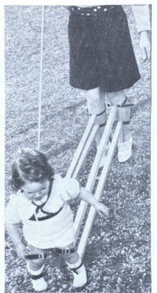 Устройство для обучения ребенка ходьбе (Швейцария, 1939