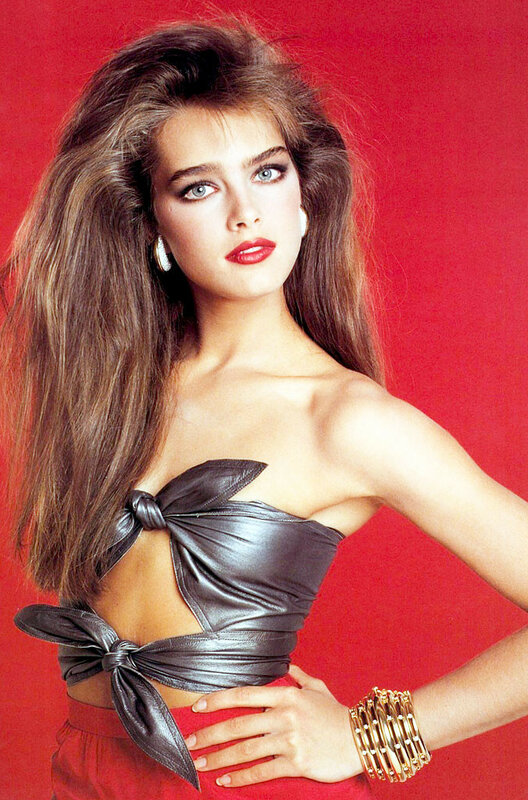 Actor Brooke Shields for Tiffany.