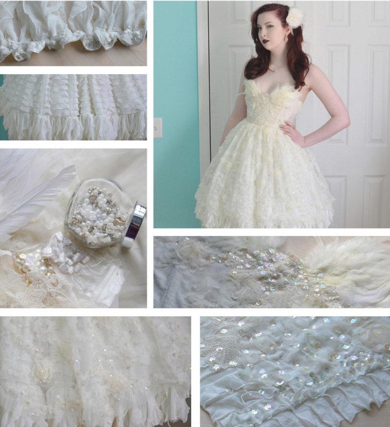 Насоздание этого платья Анджелу вдохновил модный показ бренда Marchesa.