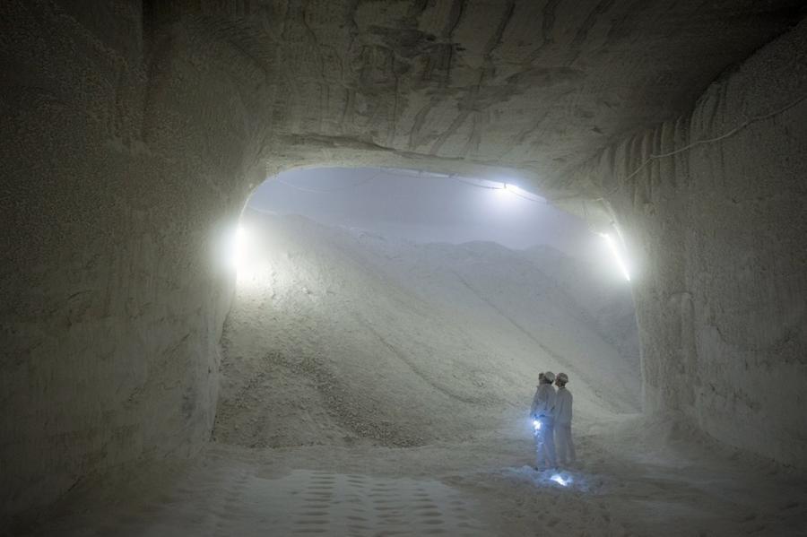 18. Хранилище соли на шахте компании K+S в Филипстале, Германия, 29 августа 2015 года.