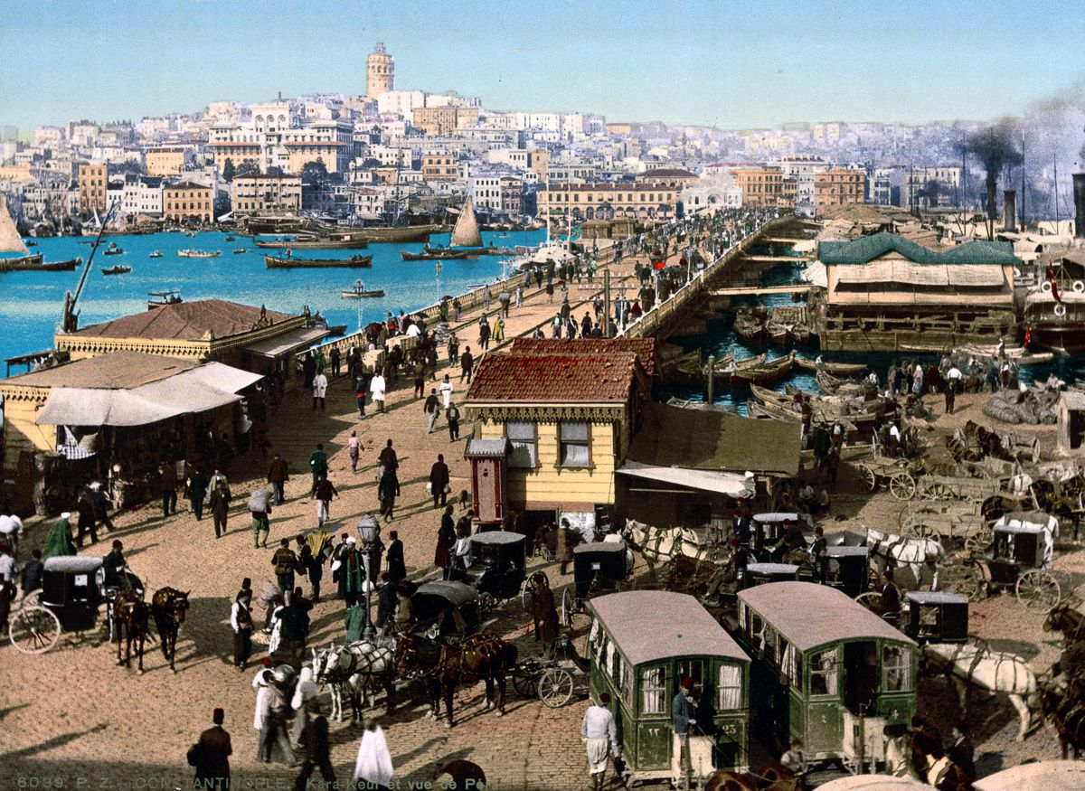 Цветные открытки Константинополя в последние дни Османской империи (1890-е годы)