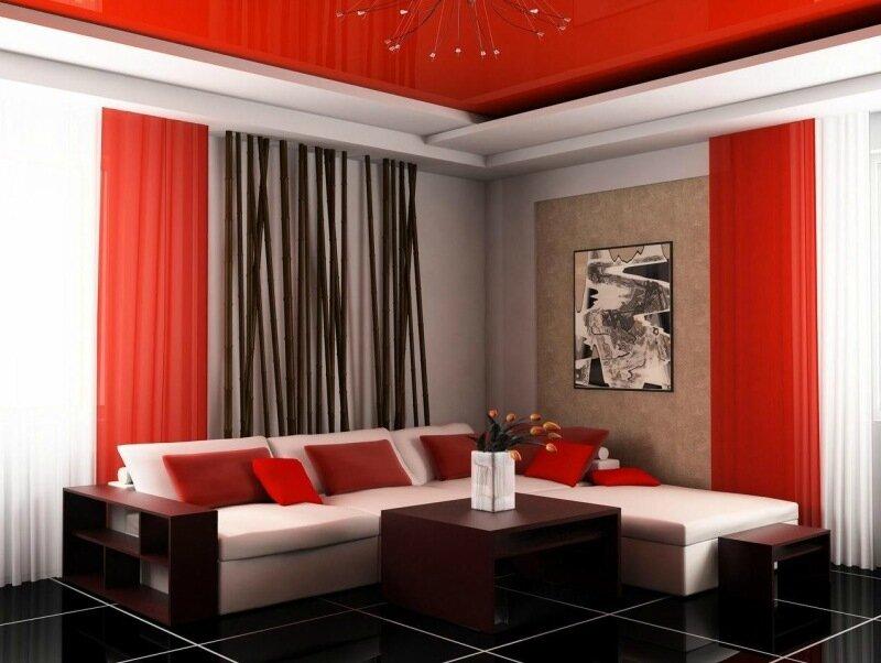 красно-черная гостиная