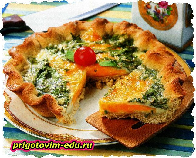 Пикантный пирог с зеленью