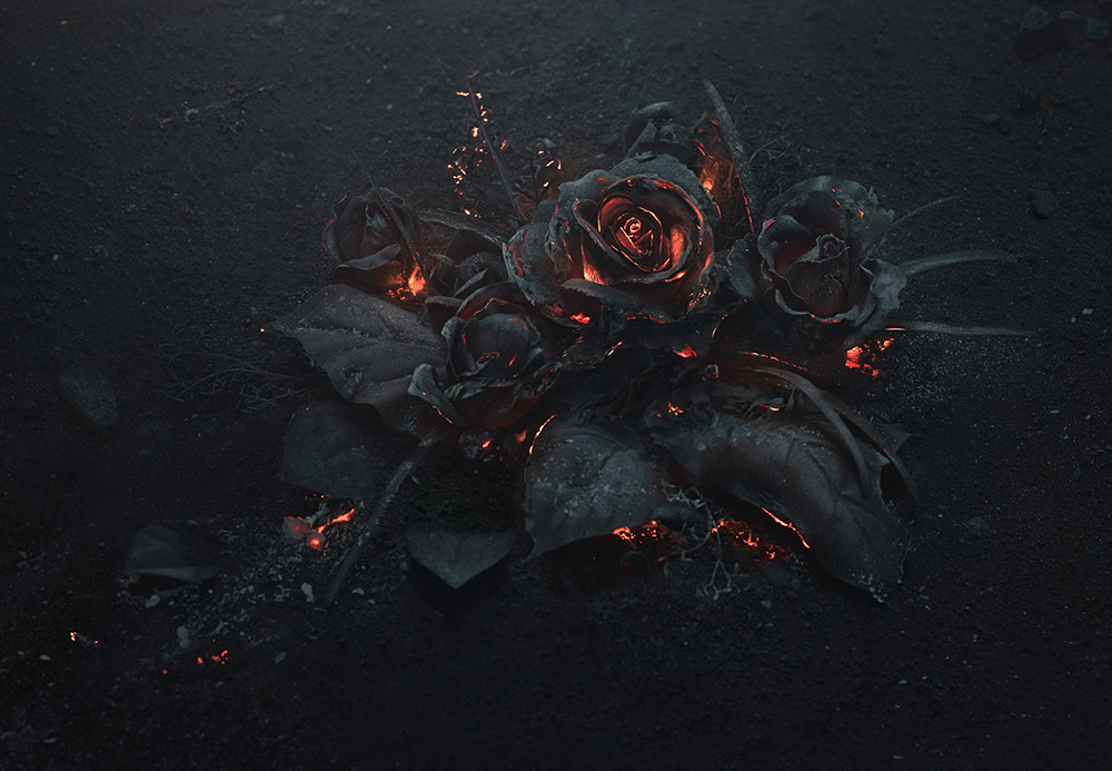 A Smoldering Bouquet of Roses Photographed by Ars Thanea (3 pics)