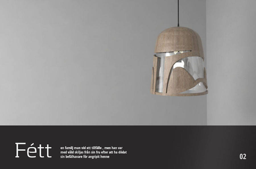 Star Wars-Inspired Lamp Design