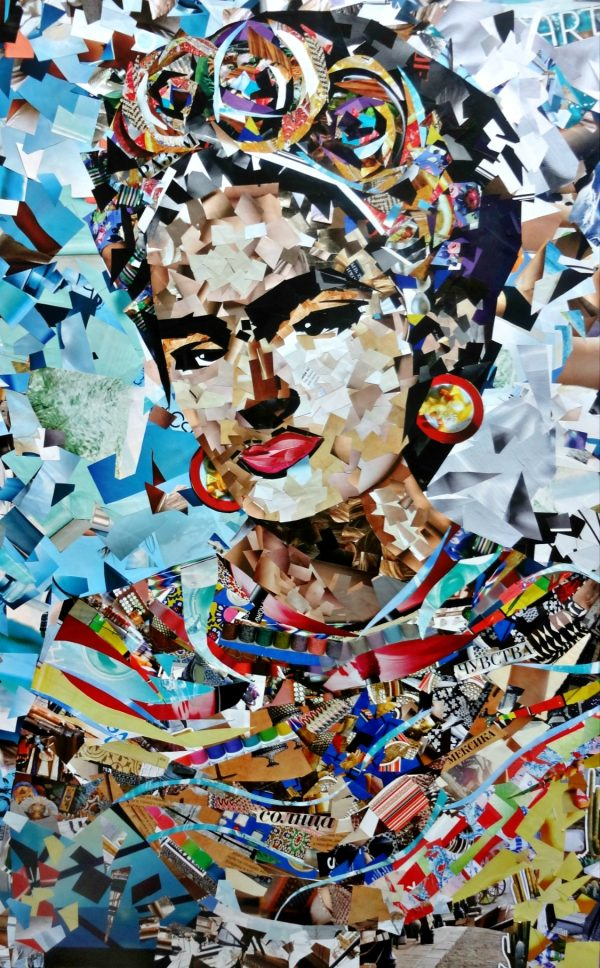 Incredible Collages with Old Magazines Fragments (6 pics)