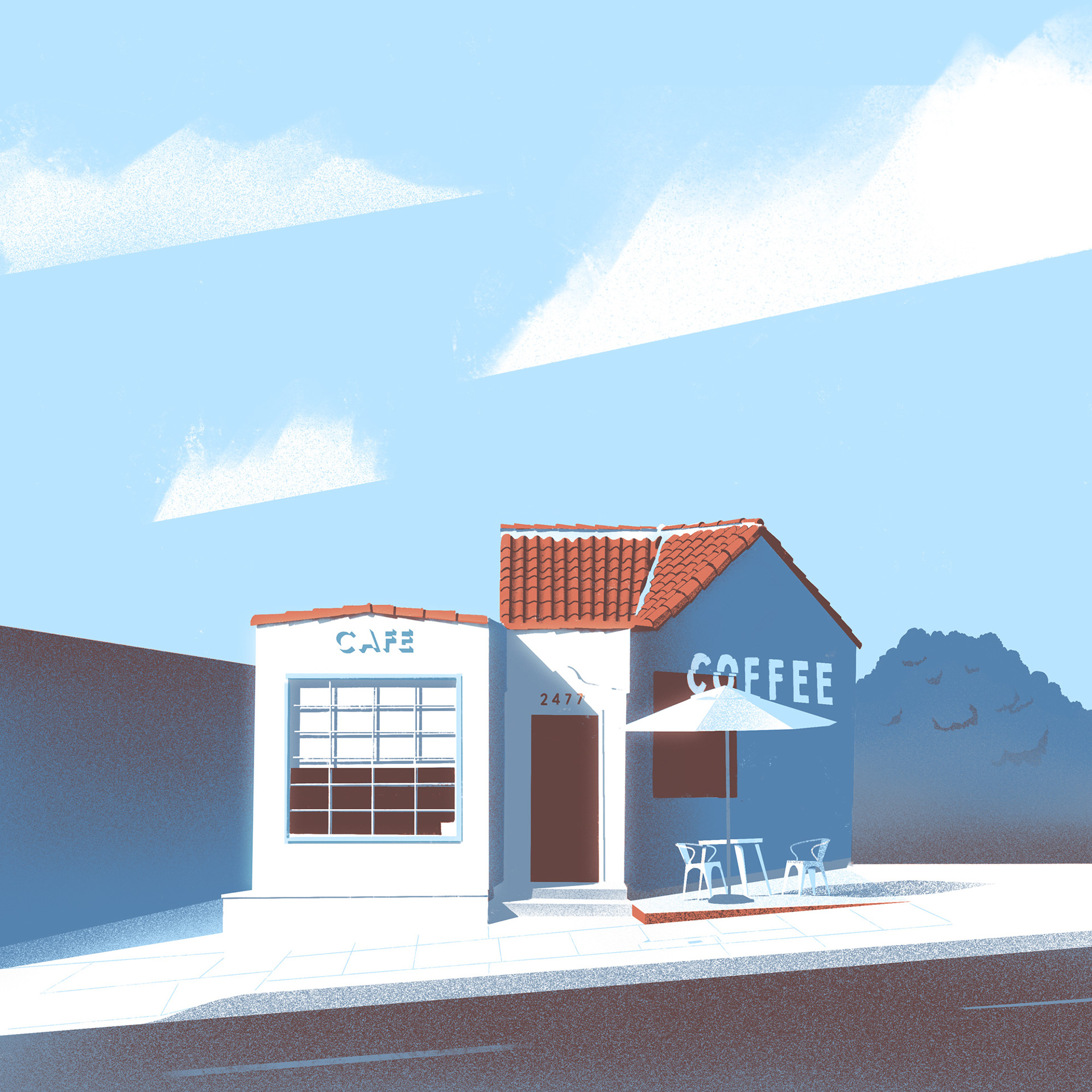 Minimalist Architectural Illustrations of Californian Buildings