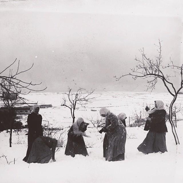 Palestinian girls playing in the snow, Jerusalem, Palestine, 1921.jpg