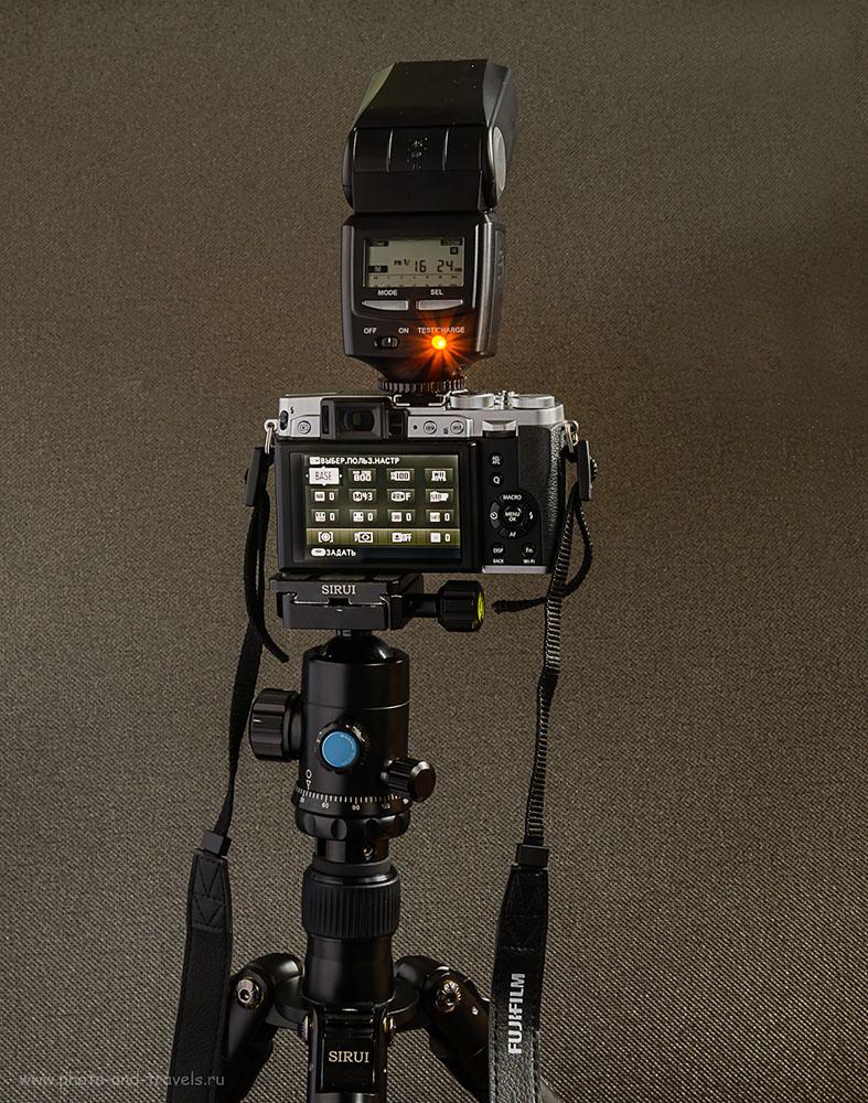 Фотография 26. Как получить четкие, правильно экспонированные снимки в помещении, при фотографировании на мыльницу? Купите внешнюю вспышку. Камера Fuji X30 и Fujifilm EF-42.