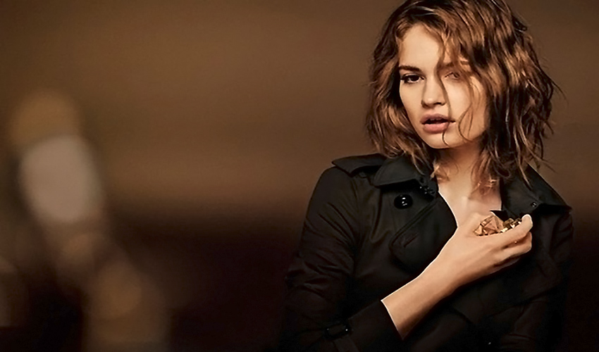 Lily James - My Burberry Black Fragrance Campaign