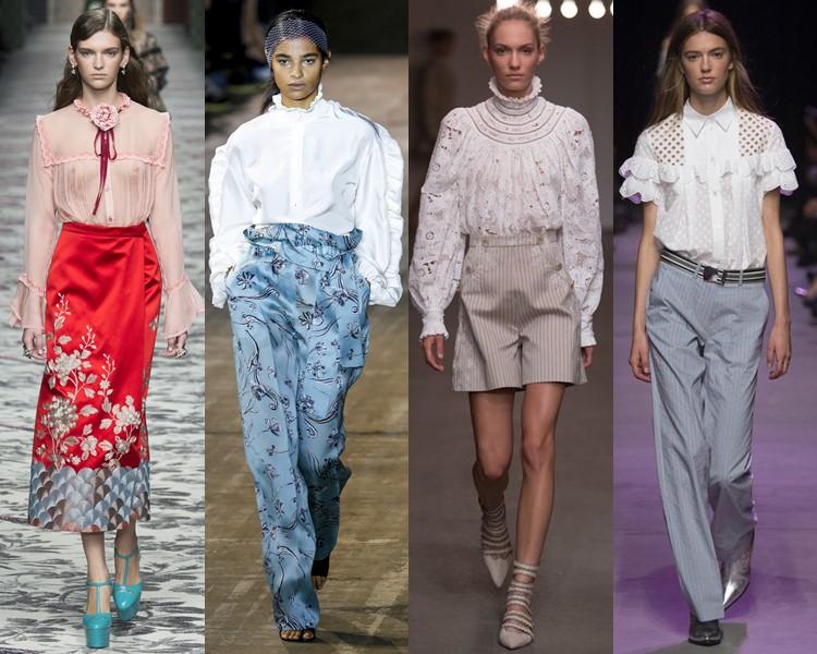 Блузки в викторианском стиле весна лето 2016