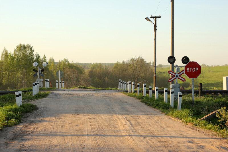 Переезд на перегоне Гущино - Воробецкая